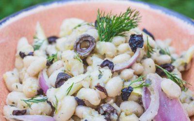 Beans vinegar salad by Grecian Taste